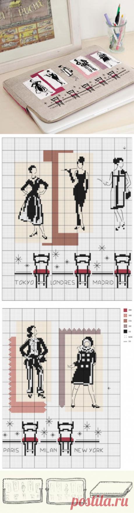 Как сшить вышитый чехол для ноутбука | WomaNew.ru - уроки кройки и шитья