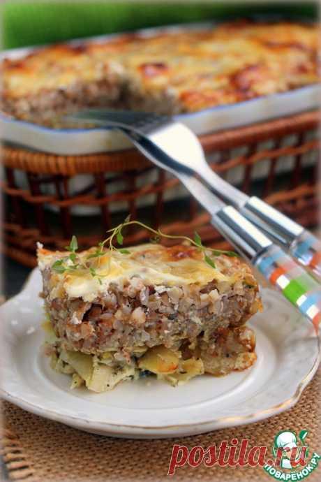 Рыба, запеченная под хлебом с гречкой - кулинарный рецепт