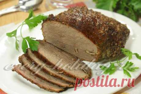 Буженина из говядины в фольге в духовке: рецепт с фото