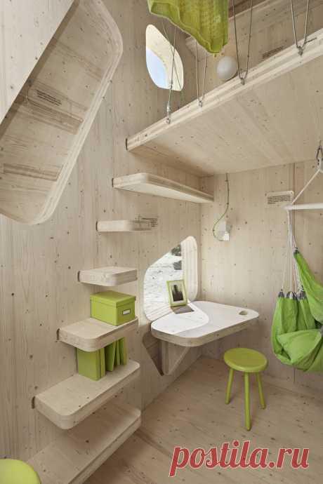 Крошечный деревянный домик — Домашний уют