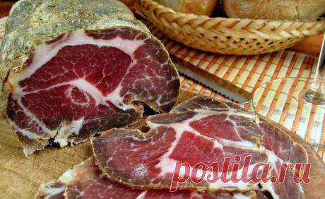 Домашнее вяленое мясо — отличная замена вредной колбас