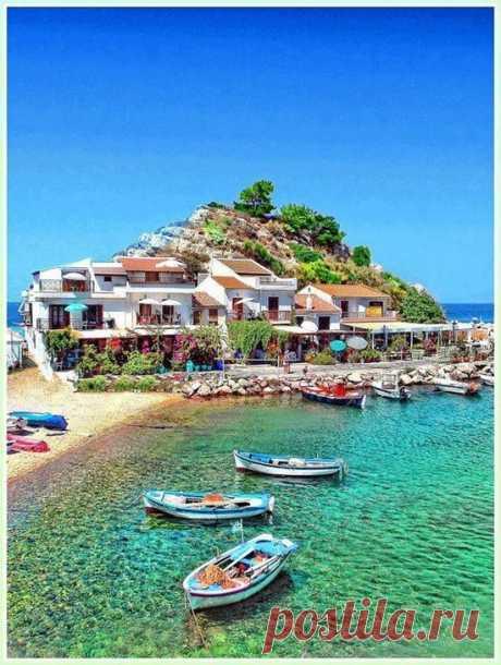 Para los aficionados de la naturaleza y el descanso de playa - la isla Samos, Grecia