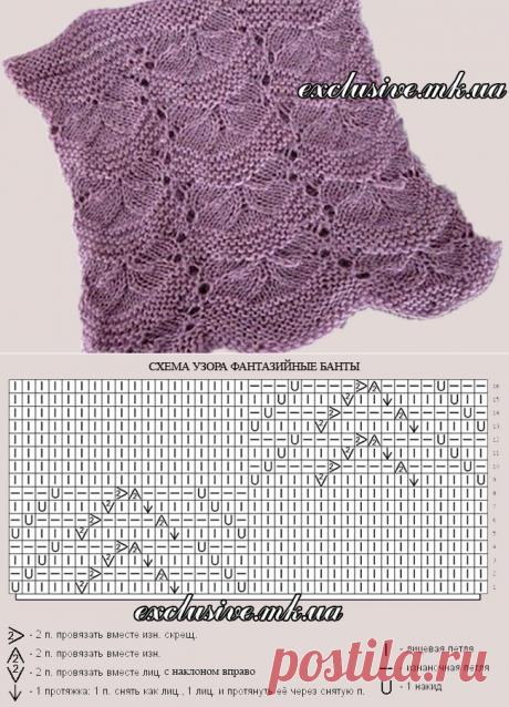 Узор 6 фантазийные банты | Салон эксклюзивного вязания