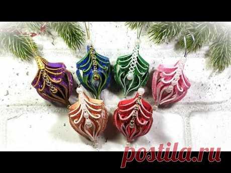 НОГОДНИЕ игрушки 2021 своими руками из фоамирана, фонарики на ёлку 🎄 diy christmas ornaments