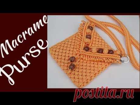 Кошелек или маленькая сумочка на плечо,  макраме