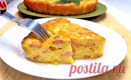 Заливной пирог с капустой и сосисками | Рецепты на SuperKuhen.ru