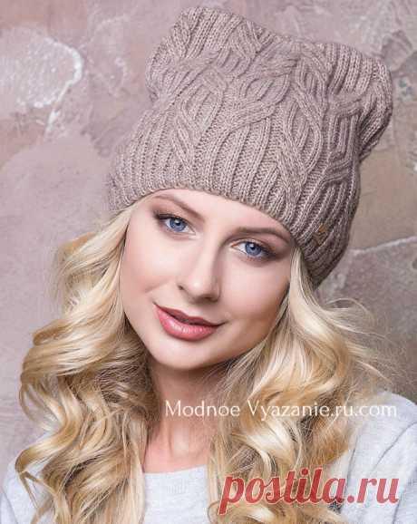 Котошапки - шапочки с ушками связанные спицами - Modnoe Vyazanie ru.com