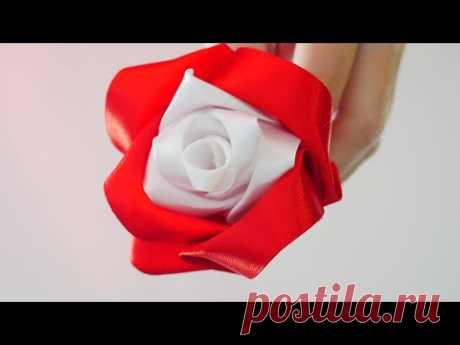 Роза из ленты за 5 минут