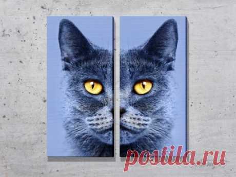 Модульные картины с кошками. #картина #модульнаякартина #декор #интерьер #дизайнинтерьера #уют #атмосфера