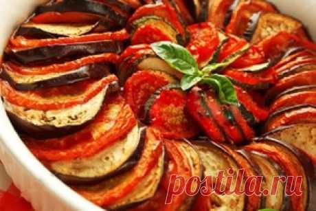 Овощи запеченные в духовке по-французски к Посту - Постное меню рецепт с фото