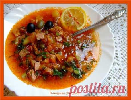 Суп солянка мясная | Русская кухня