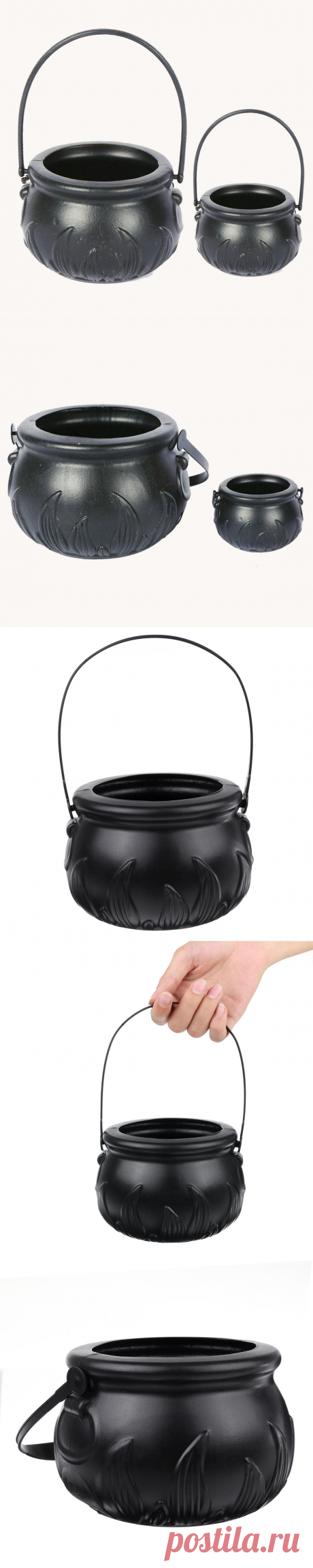 black halloween decorations witch jar candy box halloween props kids doll candy sweet jar  Sale