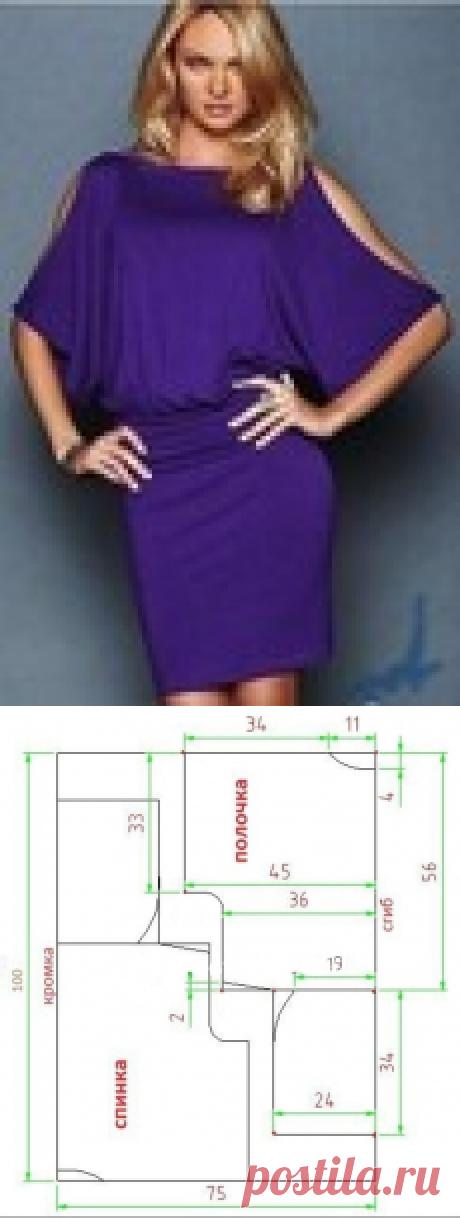 Простая модель платья Летучая мышь всего за пару часов