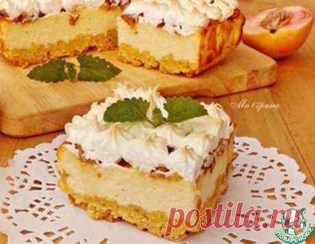 Творожной пирог с персиками – кулинарный рецепт