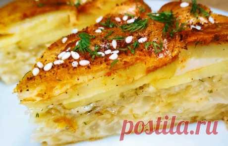 Жарю капусту с картошкой и заливаю тестом. Люблю, когда начинки много (рецепт заливного пирога) | Розовый баклажан | Яндекс Дзен