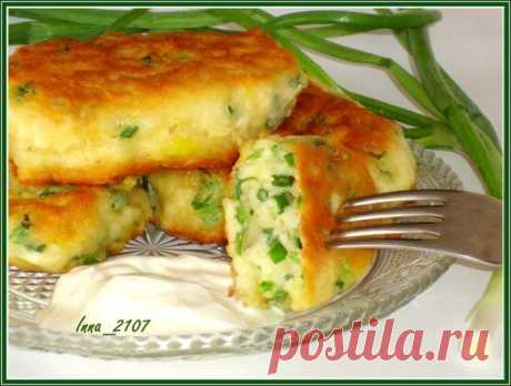Оладьи на кефире с зеленым луком | Школа вкуса - вкусные кулинарные рецепты
