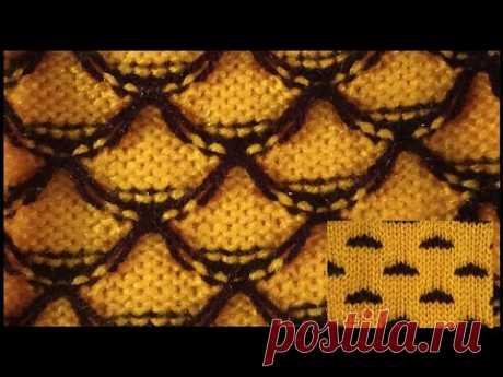 Two color Knitting pattern in knitting machine #33(निटिंग मशीन में  दो कलर का निटिंग डिजाइन #33)