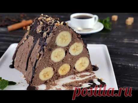 Банановая горка без выпечки  - Рецепты от Со Вкусом