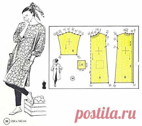 Платье в стиле бохо с застежкой на спине. #простыевыкройки #простыевещи #шитье #платье #бохо #лучевойкрой #выкройка