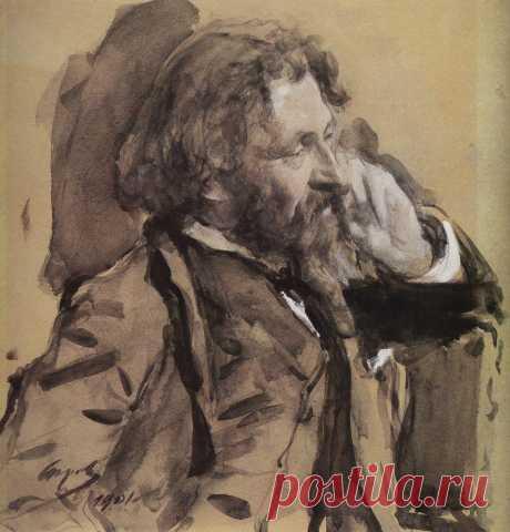 Портрет И.Е.Репина. 1901     Валентин Александрович Серов (1865-1911). Часть 1: vakin