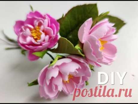Так Просто і так Красиво 🎀🎀🎀 Ніжні квіти із Фоамірану 🌸🌸🌸