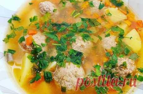 Суп с фрикадельками самый вкусный Суп с фрикадельками самый вкусный рецепт от Василий Мишлен.