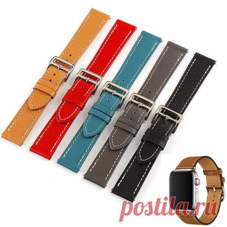 Bakeey 18/20/22/24mm Width Casual Pure First-Layer Genuine Leather Watch Band St - US$7.49