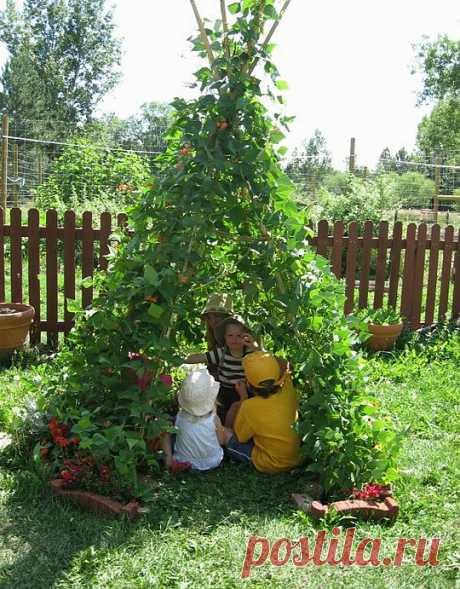 Как построить на даче шалаш для детей своими руками | Дом-Цветник