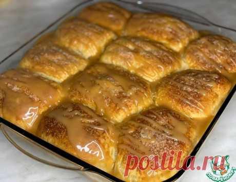 Отрывной пирог с яблоками и карамелью – кулинарный рецепт