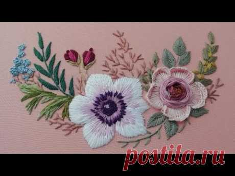 Garden Embroidery: New Design for Rose | Floral Still Life
