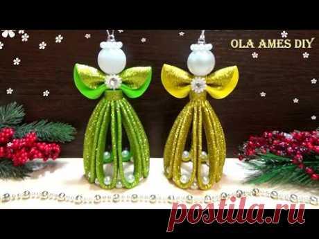 😇АНГЕЛ из Фома ЛЕГКО и БЫСТРО😇 НОВОГОДНИЕ ИГРУШКИ Своими Руками😇 DIY Christmas Angels - Foam Eva