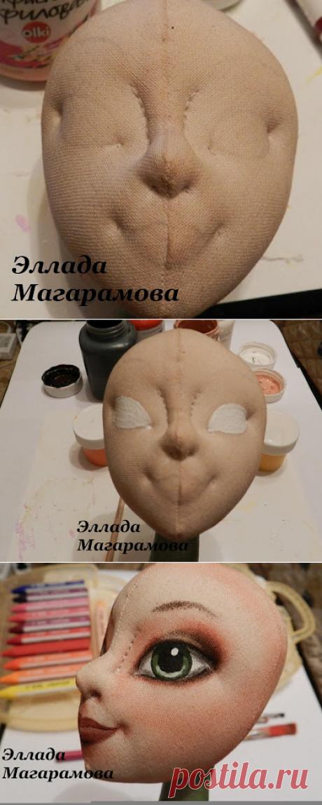 Куклы Эллады.: МК росписи и тонировки лица.