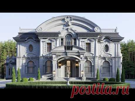 Большой двухэтажный эркерный дом
