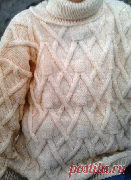 Универсальный узор для свитера или джемпера | ПРОСТО ОБО ВСЁМ | Яндекс Дзен