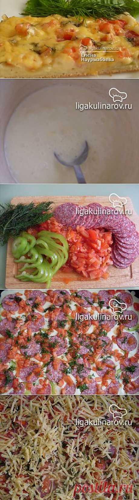 Пицца на майонезе – рецепт с фото от Лиги Кулинаров, пошаговый рецепт
