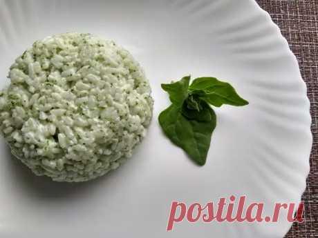 Вкусный «Зелёный рис». На самом деле гарнир из риса может быть не только белым. Делюсь рецептом натуральной подкраски - Ваши любимые рецепты - медиаплатформа МирТесен