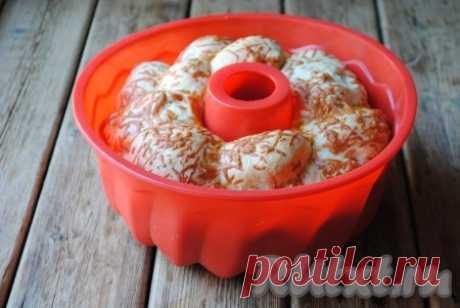 Обезьяний хлеб с сыром и чесноком - 15 пошаговых фото в рецепте