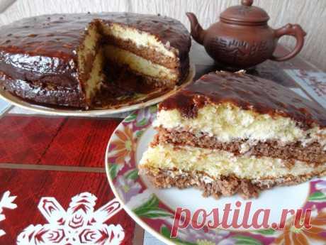"""Торт шоколадный """"Бархатный"""" - рецепт с фото пошагово"""