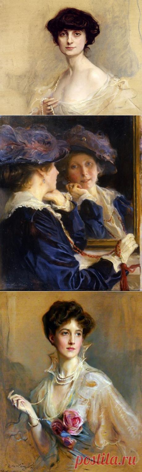 Художник Philip Alexius de Laszl.... Картины женской красоты...