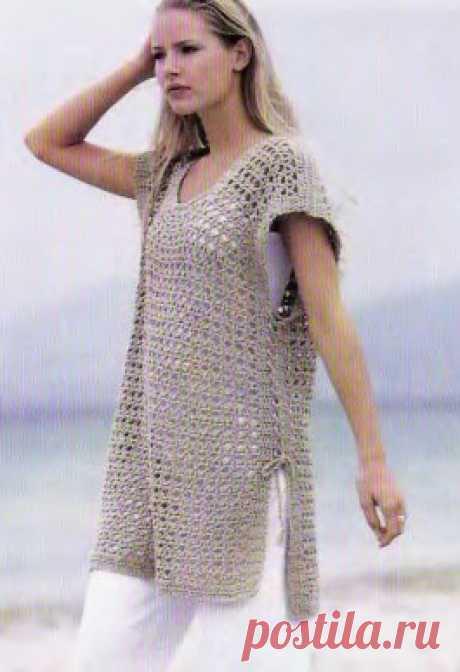 Рубашка с сетчатым узором - Мир вязания и рукоделия Рубашка с сетчатым узором Рубашка с сетчатым узором В модели…