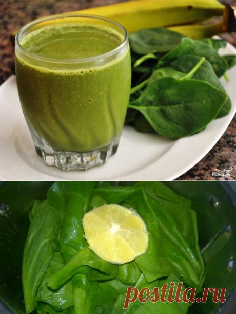 Зеленый коктейль с цукини  Ингредиенты: Киви  — 3 Штуки Цукини — 1 Штука Лимон  — 0,5 Штуки Зелень  — По вкусу