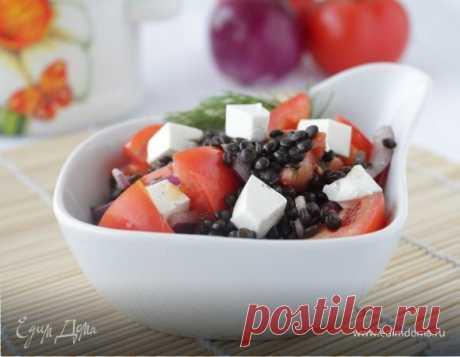 Салат из черной чечевицы, пошаговый рецепт на 961 ккал, фото, ингредиенты - ярослава