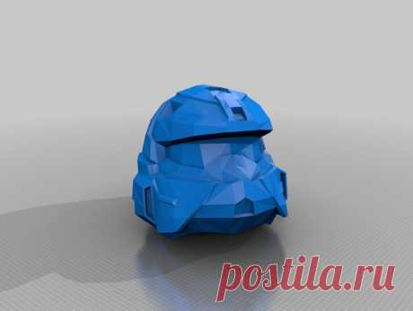 """Halo Rogue helmet by Jace1969 An old file from my Pepakura making days that I discovered in Pepakura Designer you can export to .OBJ and in """"Windows 10 3DBuilder or 123Design"""" export to .STL. Unfortunately I don't have the skills yet to improve further on the model, but maybe someone out there would like to tidy it up. Please upload it back as a remix if you do take the time to clean it up. Please note this was originally uploaded to the net as a free down load. So I cant ..."""
