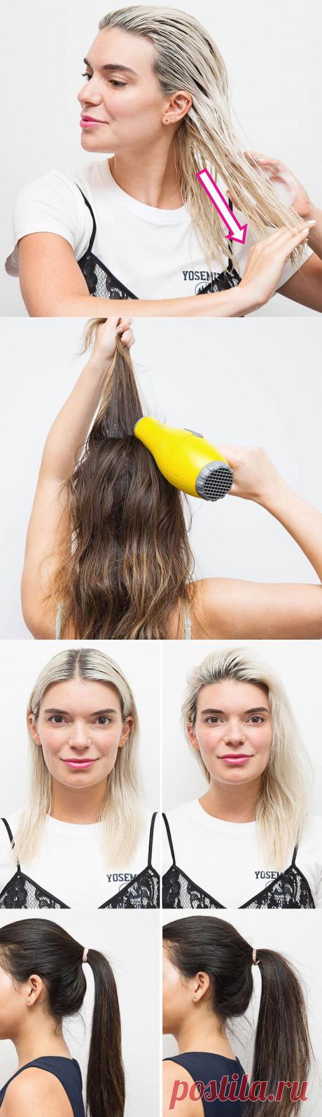 17 лайфхаков, которые сделают твои волосы в 3 раза объемней   Придай волосам шикарный объем, используя эти простые и эффективные уловки!