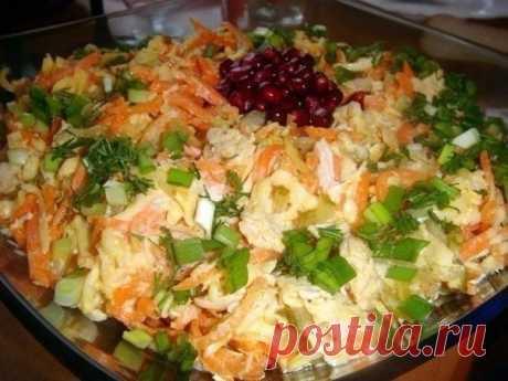 Как приготовить салат лисичка - рецепт, ингридиенты и фотографии