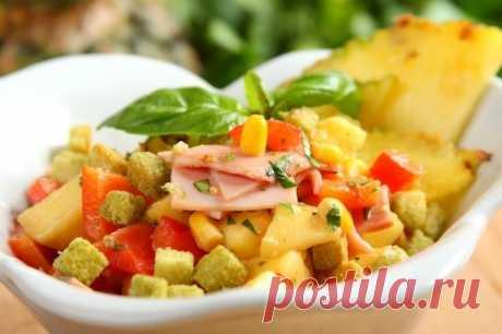 Ананасовый салат с рисом и кукурузой – пошаговый рецепт с фото.