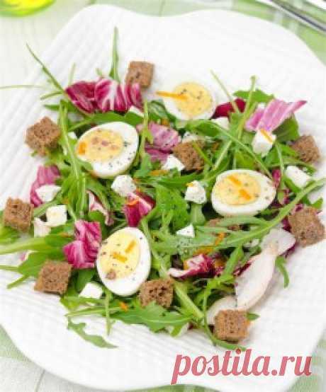 Салат с яйцами перепелок
