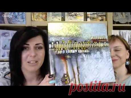 Клубные встречи Wings of Art №19: Микс медиа бумага и декор чернильными карандашами на ткани