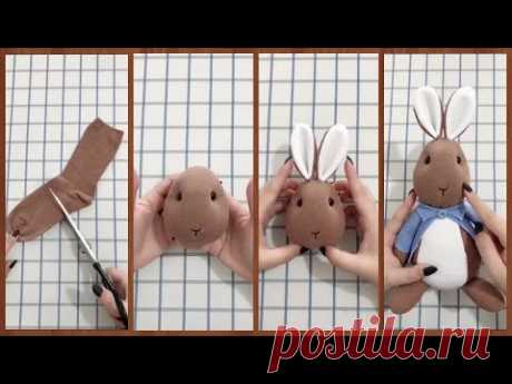 Как сделать кролика из носков