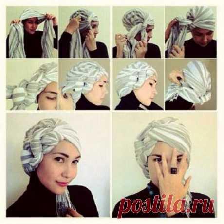 Чалма из платка на голову своими руками. Как завязать чалму из платка, палантина, полотенца. Турецкий и африканский способы. Хитрости.
